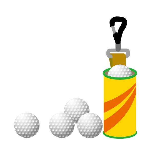 ゴルフボールをケースに3個入れて携帯すればプレーは迅速化