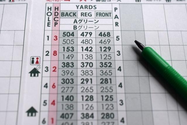 競技ゴルフでのスコアカードの提出の仕方と気をつけること